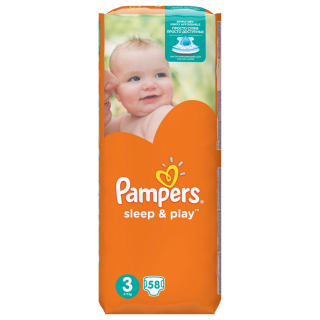 Pelenka, Pampers Sleep&Play 58db Midi