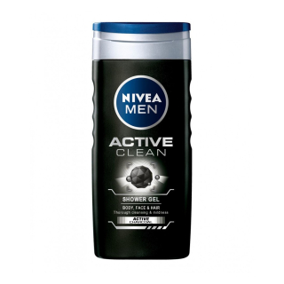 Tusfürdő, Nivea 250ml ffi Active Clean 84045