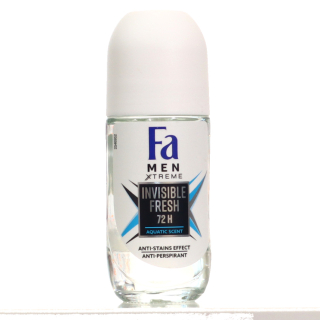 Golyós Deo, Fa Roll-On 50ml Invisible Fresh Men